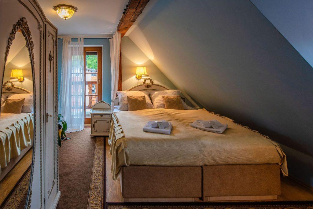 Ubytování U Bílé Paní Český Krumlov Soukenická 42 Dvoulůžko s balkonem