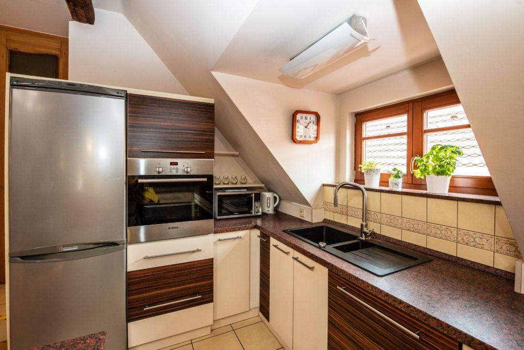 Ubytování U Bílé Paní Český Krumlov apartmán soukromá kuchyň