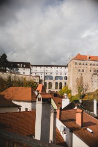 Ubytování U Bílé Paní Český Krumlov Pokoj s balkonem